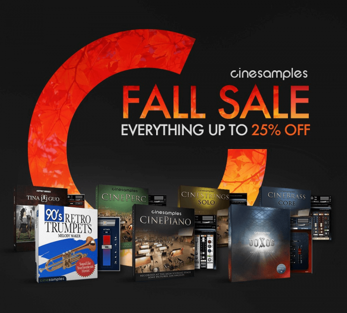 Cinesamples Fall Sale 2018