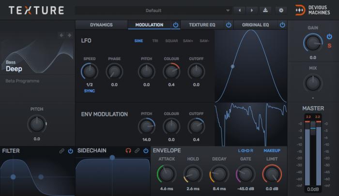 Devious Machines Texture modulation