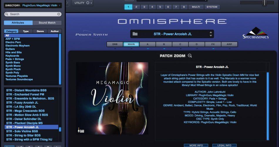 PlugInGuru MegaMagic Violin for Omnisphere