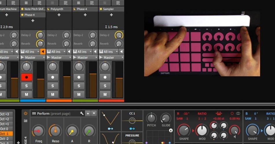 Sensel Morph Bitwig Studio 8 Track 2