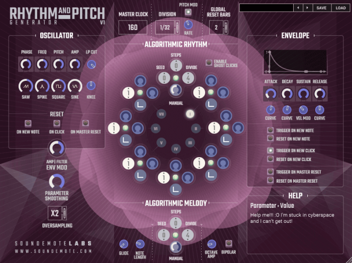 Soundemote Rhythm and Pitch Generator