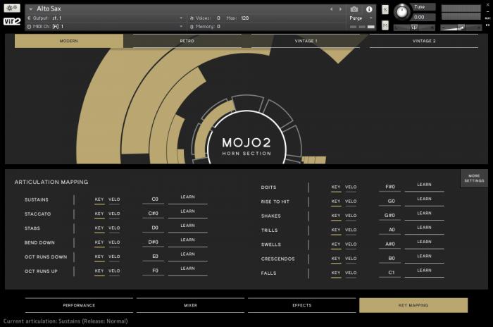 Vir2 MOJO2 GUI KeyMapping