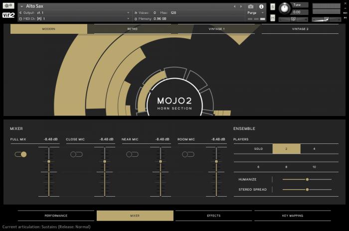 Vir2 MOJO2 GUI Mixer