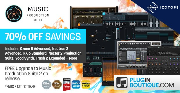 iZotope Music Production Suite 2 Upgrade sale