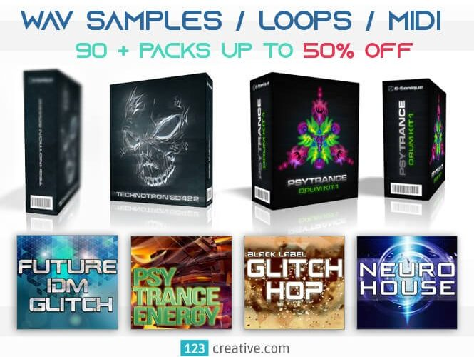 123creative samples loops midi deal