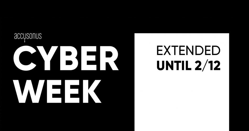 Accusonus Cyber Week extended