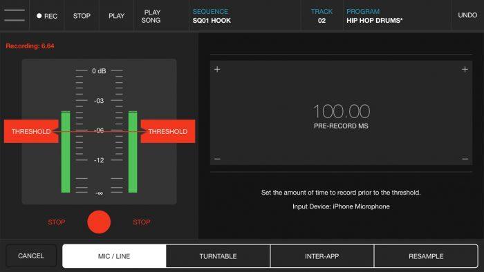 Akai Pro iMPC Pro 2 mic line