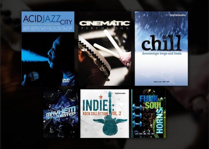 Big Fish Audio Mayhem Dubstep, Acid Jazz City, Cinematic Percussion