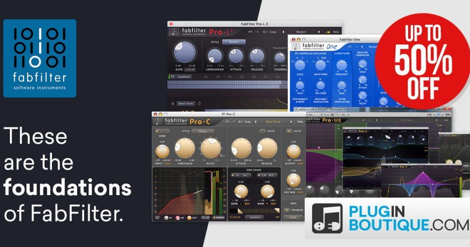 FabFilter Black Friday up to 50