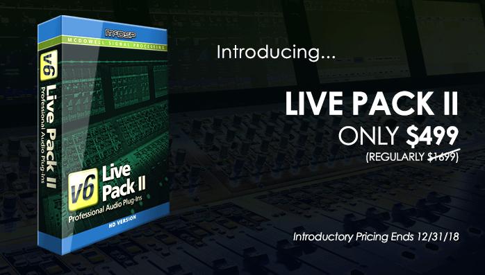 McDSP Live Pack II