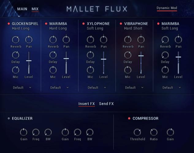NI Mallet Flux Ensemble Mixer Insert FX