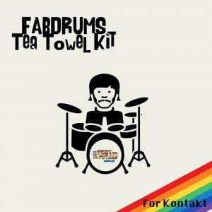 Past To Future Samples Fab Drums Tea Towel Kit