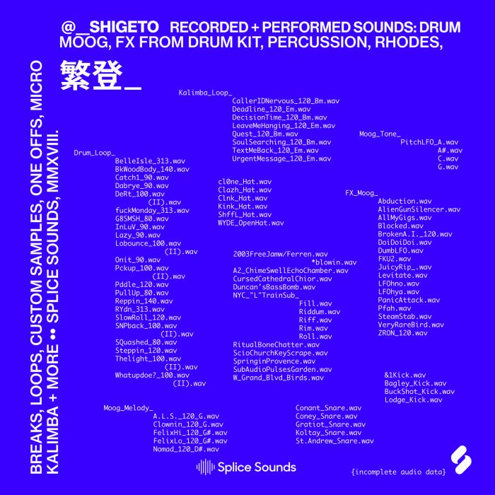 Splice Sounds Shigeto Sample Pack