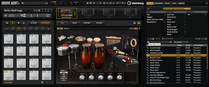 Steinberg Groove Agent 5 Percussion Agent