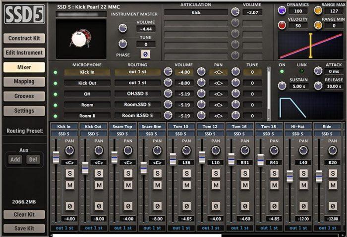Steven Slate Drum 5 mixing