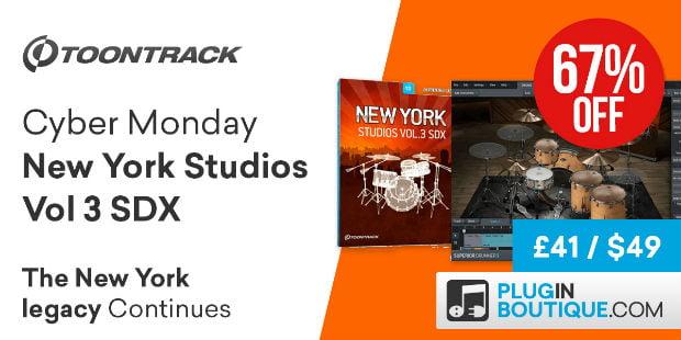 Toontrack New York Studios Vol 3 SDX Cyber Monday
