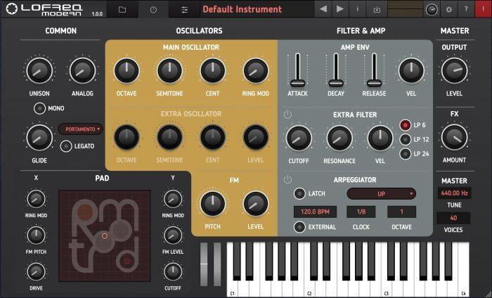 Tracktion RetroMod LoFreq Modern screen 1