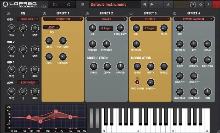 Tracktion RetroMod LoFreq Modern settings 1