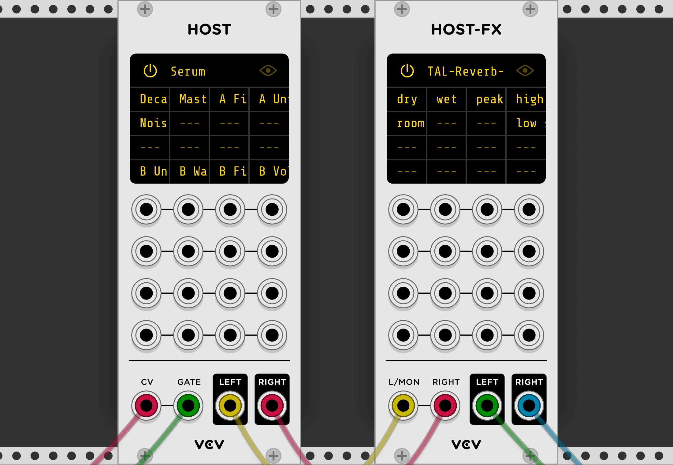 use vst plugins in vcv rack modular synth with new host modules