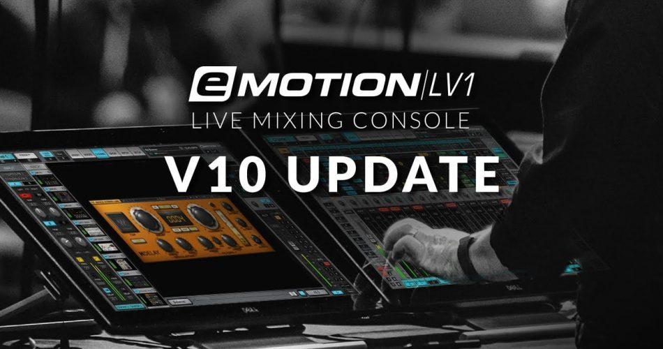 Waves eMotion LV1 v10 update
