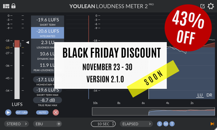 Youlean Loudness Meter Black Friday