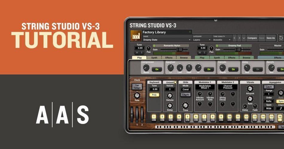 AAS String Studio VS 3 tutorial