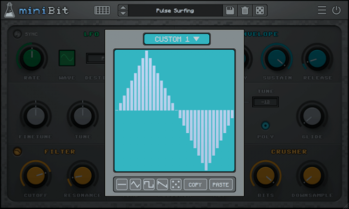 AudioThing miniBit custom waveform editor