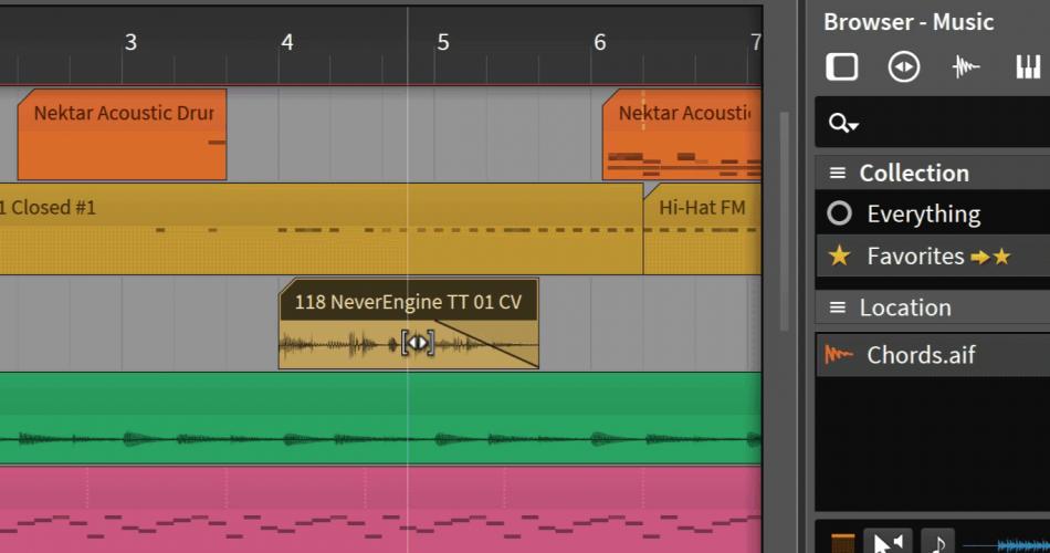 Bitwig Studio 2 audio editing
