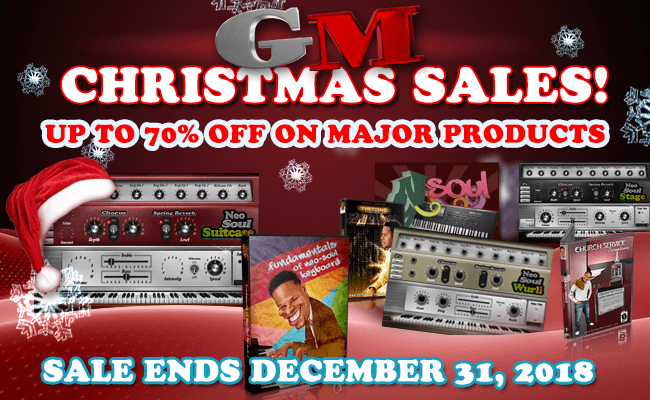 Gospelmusicians Christmas Sale 2018