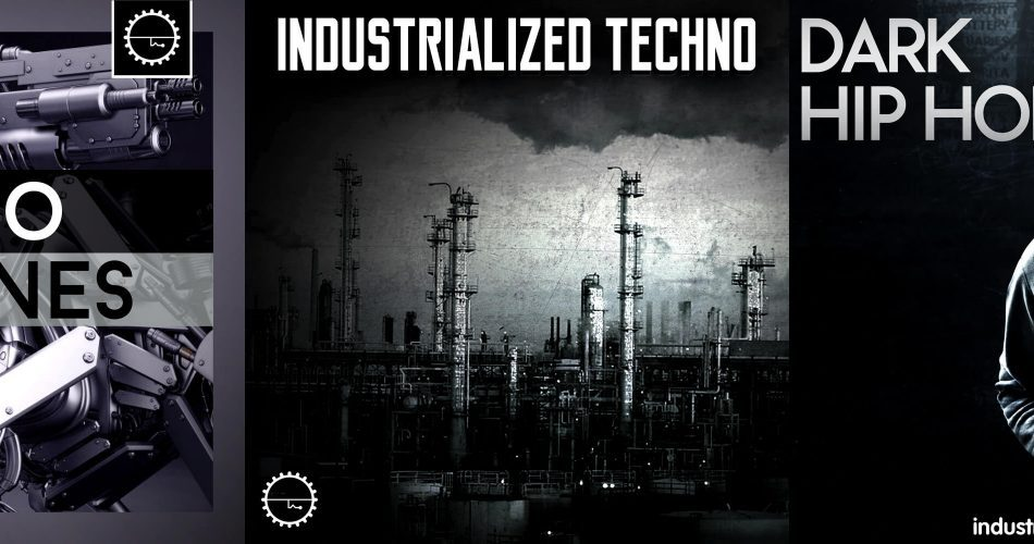Industrial Strength Samples Industrialized Techno, Techno Basslines, Dark Hip Hop