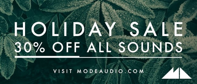 ModeAudio Holiday Sale 2018