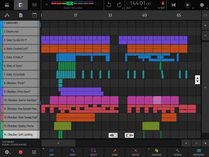 NanoStudio 2 Song Editor