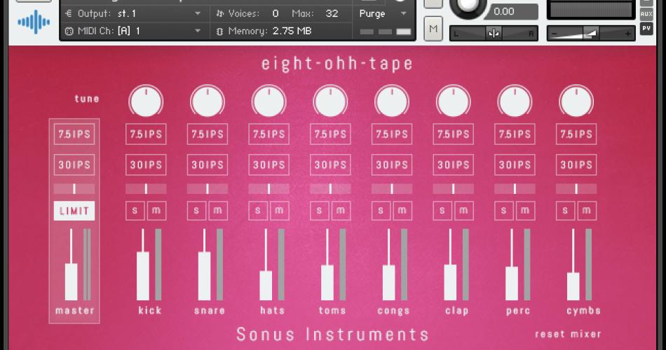 Sonus Instruments Eight Ohh Tape 808