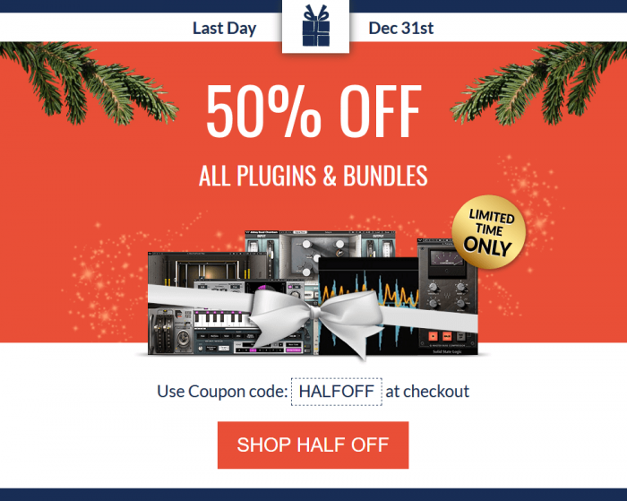 Waves 50 OFF plugins & bundles