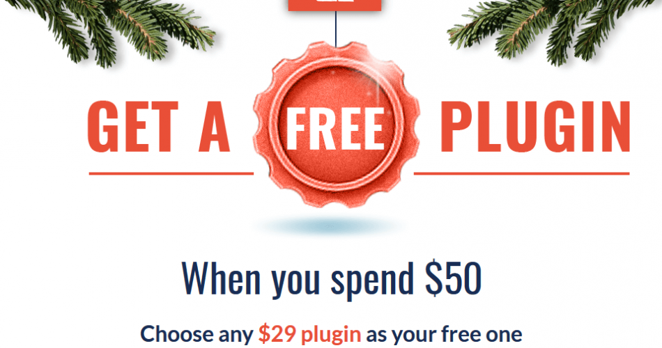 Waves Spend 50 Get FREE plugin