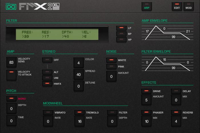 FMX2-XL Edit GUI
