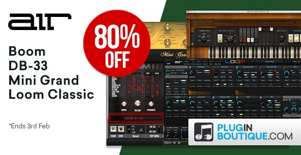 80% off AIR Music Tech plugins