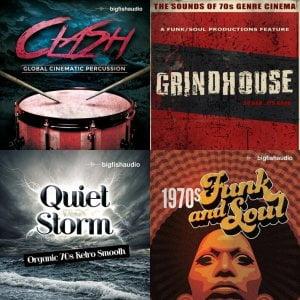 Big Fish Audio Clash, Grindhouse, Quiet Storm & 1970s Funk and Soul