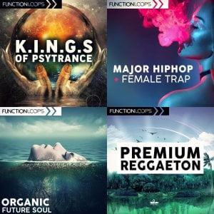 Function Loops Kings of Psytrance, Premium Reggaeton, Organic Future Soul and Major Hiphop & Female Trap