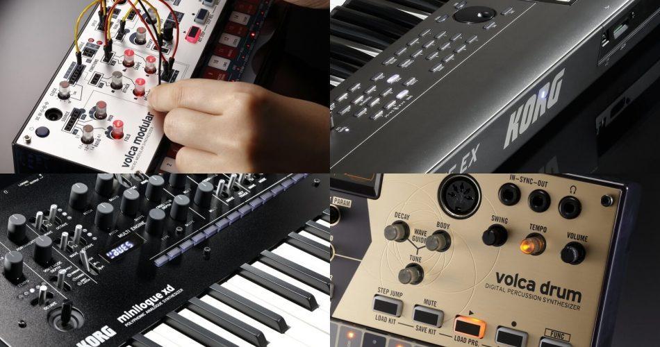 Korg volca drum & modular, KROME EX and minilogue XD