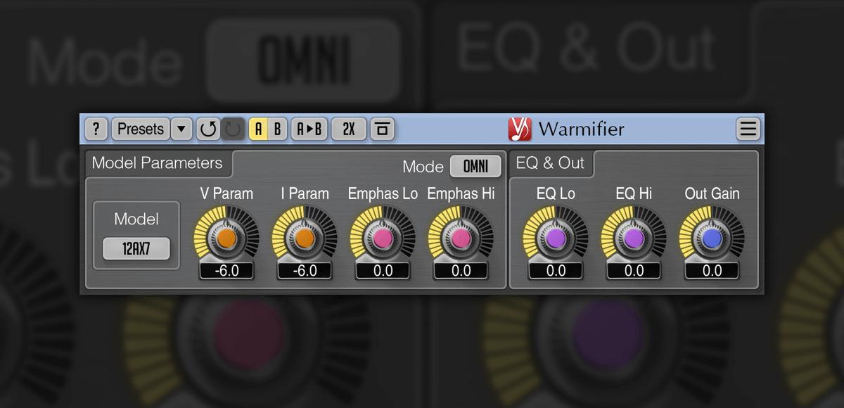 Voxengo updates Warmifier analog tube/valve effect plugin to v2.2