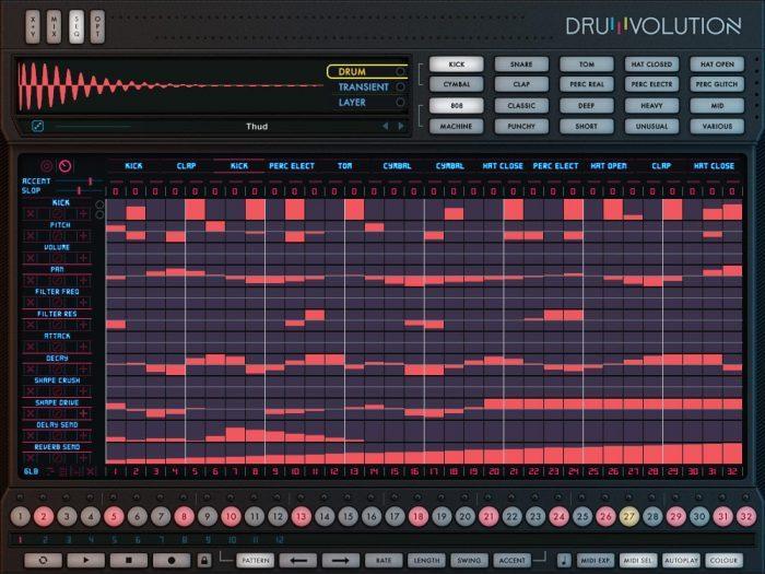 Wave Alchemy Drumvolution screen seq fx