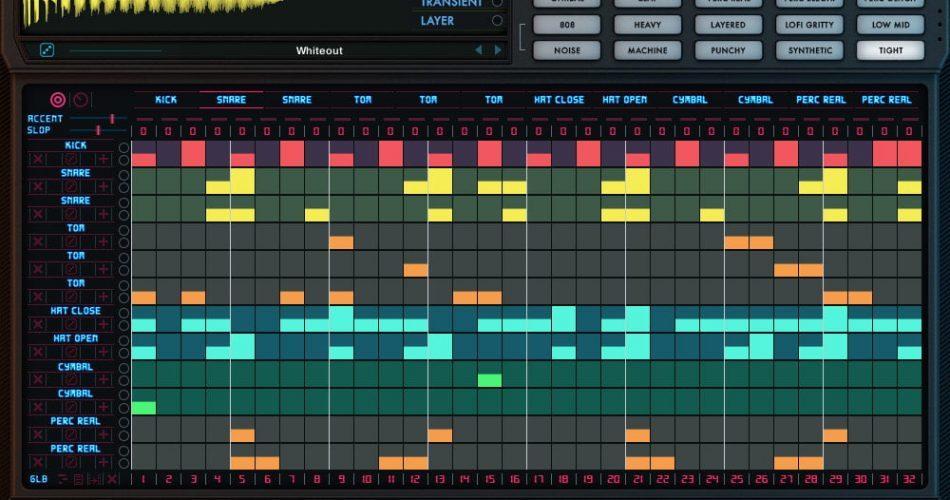 Wave Alchemy Drumvolution screen seq page
