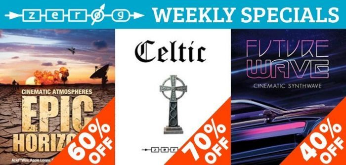 Zero G Weekly Deals Epic Horizon, Celtic & Future Wave