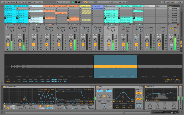 Ableton Live 10.1 Delay & Channel EQ
