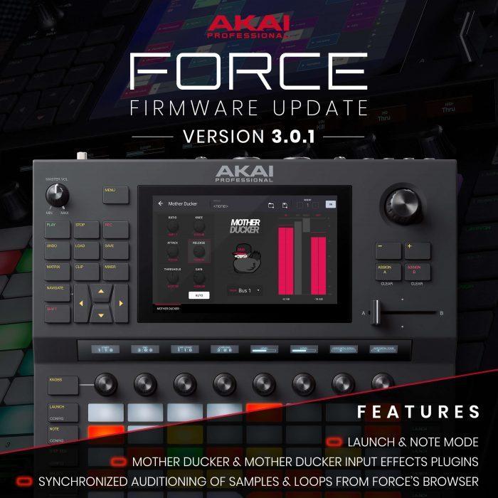 Akai Pro Force 301 firmware update