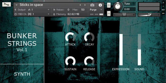 Bunker Strings Synth GUI
