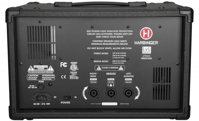 Harbinger LP7800 back