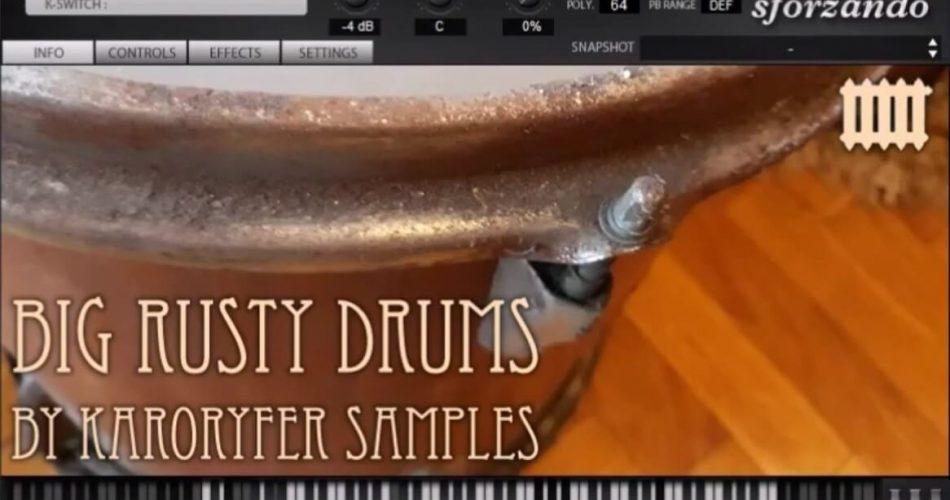 Karoryfer Samples Big Rusty Drums
