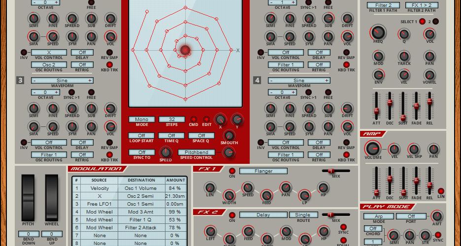 Rob Papen Vecto vector synthesizer